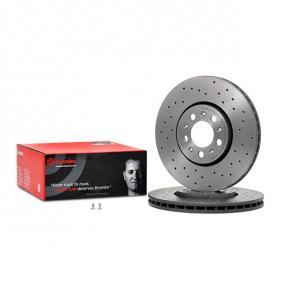 Delantero Perforado Ranurado 288 mm Discos de Freno para SKODA ROOMSTER RAPID VW BORA TOLEDO