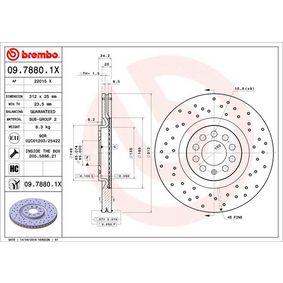 09.7880.1X Disco de freno BREMBO calidad original