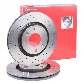 2 X original Brembo Sport discos de freno recubierto ventilado eje delantero Opel
