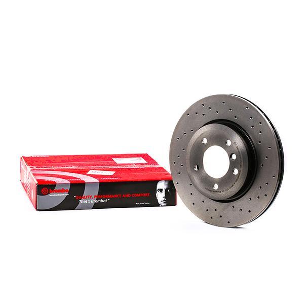 Origine Disque BREMBO 09.8952.1X (Ø: 325mm, Nbre de trous: 5, Épaisseur du disque de frein: 25mm)