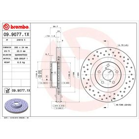 09.9077.1X Brake Disc BREMBO - Experience and discount prices