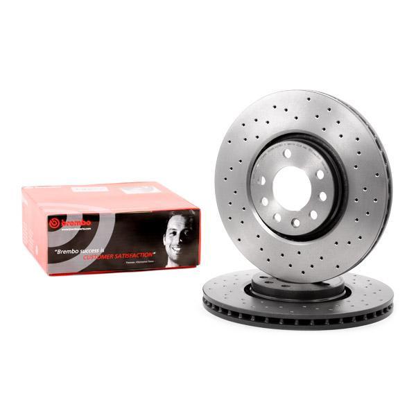 2x BREMBO Front Brake Discs Vented 308mm for VAUXHALL ASTRAVAN 09.9369.10