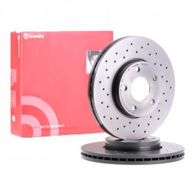 09.9464.1X BREMBO BREMBO XTRA LINE Perforated / Vented, Coated, High-carbon Ø: 278mm, Num. of holes: 5, Brake Disc Thickness: 25mm Brake Disc 09.9464.1X cheap