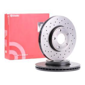 09.9464.1X BREMBO XTRA LINE Perforado/ventil. int., revestido, altamente carbonizado Ø: 278mm, Núm. orificios: 5, Espesor disco freno: 25mm Disco de freno 09.9464.1X a buen precio