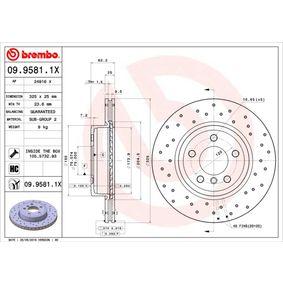 09.9581.1X Disco de freno BREMBO - Productos de marca económicos