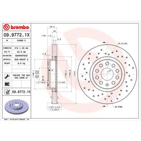 09.9772.1X Brake Disc BREMBO - Experience and discount prices