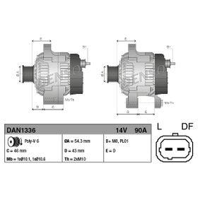 DAN1336 Γεννήτρια DENSO - Φθηνά επώνυμα προϊόντα