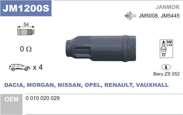 JANMOR: Original Zündkerzenstecker JM1200S ()