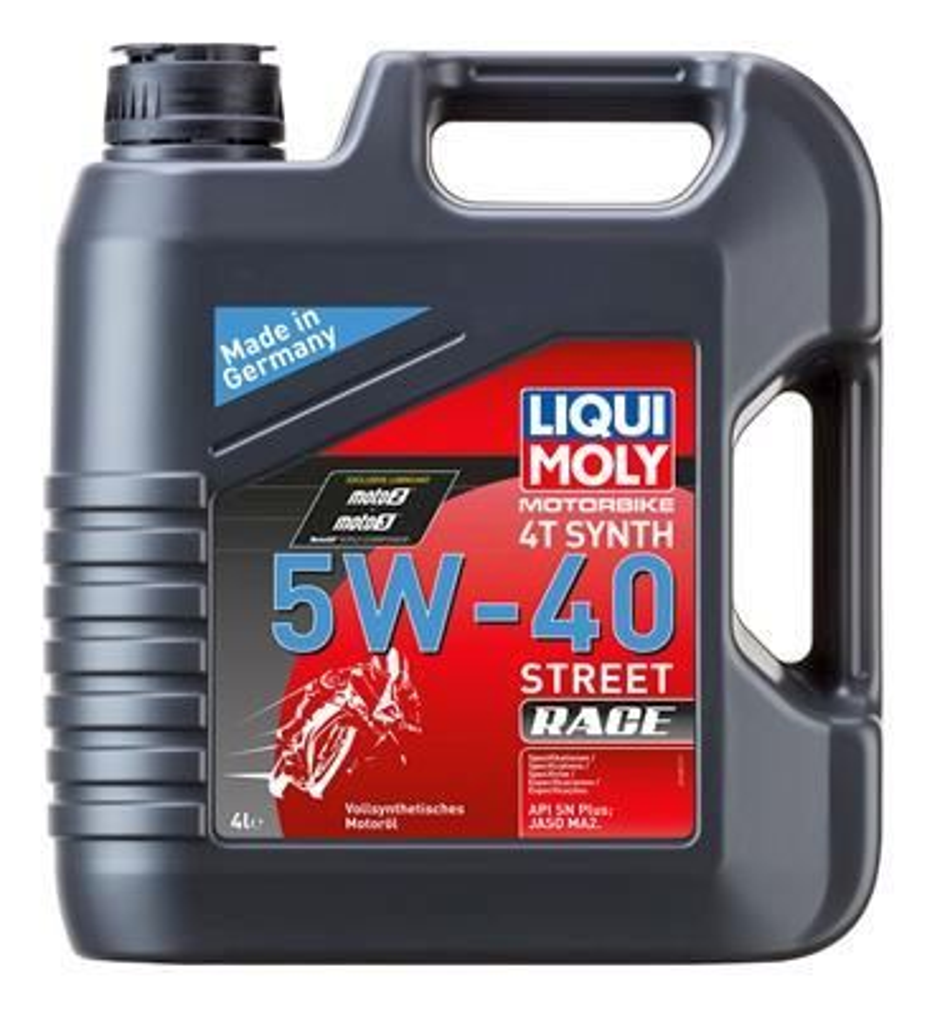 LIQUI MOLY Motorbike 4T Synth, Street Race Olej silnikowy 5W-40, 4l 1685 SYM