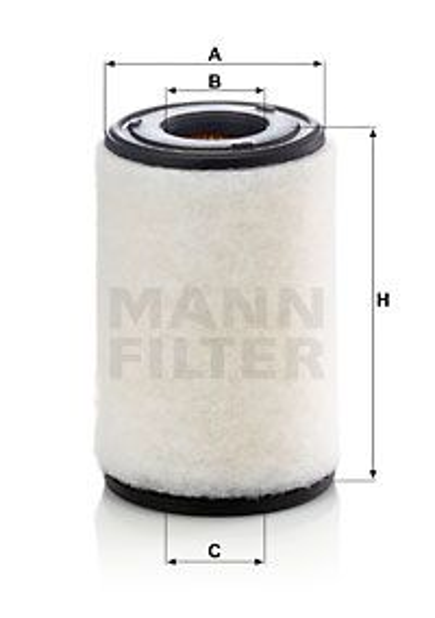 NISSAN NP300 PICKUP 2019 Luftfilter - Original MANN-FILTER C 14 011 Höhe: 228mm