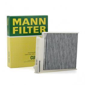 CUK 1829 MANN-FILTER Aktivkohlefilter Breite: 180mm, Höhe: 28mm, Länge: 185mm Filter, Innenraumluft CUK 1829 günstig kaufen