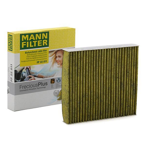 FP 22 011 MANN-FILTER Aktivkohlefilter mit Polyphenol, mit antibakterieller Wirkung, Feinstaubfilter (PM 2.5), mit fungizider Wirkung, Aktivkohlefilter, FreciousPlus Breite: 200mm, Höhe: 35mm, Länge: 216mm Filter, Innenraumluft FP 22 011 günstig kaufen