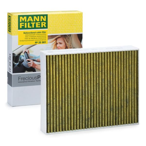 MANN-FILTER: Original Kabinenluftfilter FP 25 001 (Breite: 198mm, Höhe: 41mm, Länge: 248mm)