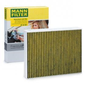 FP 25 001 MANN-FILTER Aktivkohlefilter mit Polyphenol, mit antibakterieller Wirkung, Feinstaubfilter (PM 2.5), mit fungizider Wirkung, Aktivkohlefilter, FreciousPlus Breite: 198mm, Höhe: 41mm, Länge: 248mm Filter, Innenraumluft FP 25 001 günstig kaufen
