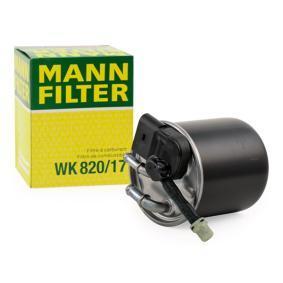 WK 820/17 MANN-FILTER Height: 100mm Fuel filter WK 820/17 cheap