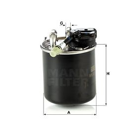 WK820/17 Fuel filter MANN-FILTER - Experience and discount prices