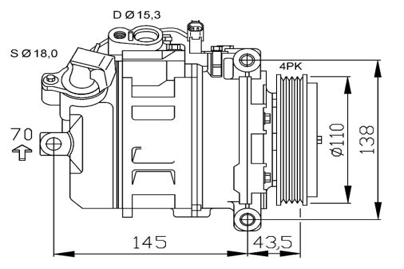 Kompressor Klimaanlage 32789G Opel ZAFIRA 2016