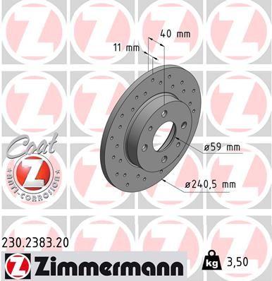 ZIMMERMANN Bremsscheibe 230.2383.20
