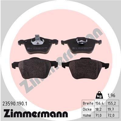 ZIMMERMANN Bremsbelagsatz, Scheibenbremse 23590.190.1