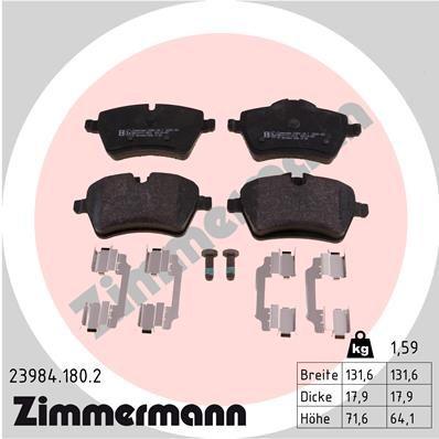 Bremssteine ZIMMERMANN 23984.180.2