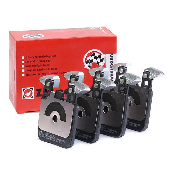 D16568885 ZIMMERMANN für Verschleißwarnanzeiger vorbereitet Höhe: 884mm, Breite: 72mm, Dicke/Stärke: 17mm Bremsbelagsatz, Scheibenbremse 25029.170.1 günstig kaufen