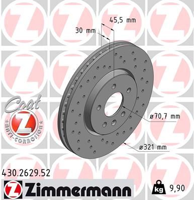 Bremsscheiben ZIMMERMANN 430.2629.52