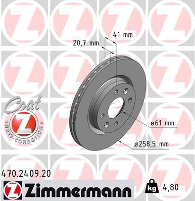 ZIMMERMANN Bremsscheibe 470.2409.20