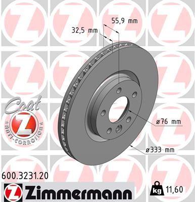Scheibenbremsen ZIMMERMANN 600.3231.20