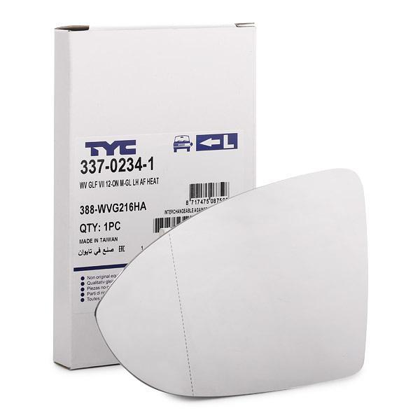 Acheter Verre à miroir grand rétroviseur TYC 337-0234-1 à tout moment