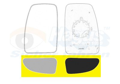 Original NISSAN Außenspiegelglas 3799833
