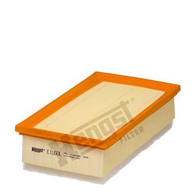 6228310000 HENGST FILTER Filtereinsatz Länge: 292mm, Länge: 292mm, Breite: 161mm, Höhe: 77mm Luftfilter E1160L günstig kaufen