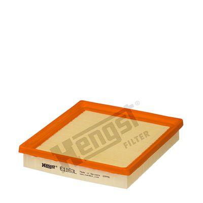 6227310000 HENGST FILTER Filtereinsatz Länge: 206,0mm, Breite: 192,0mm, Höhe: 35,0mm Luftfilter E1163L günstig kaufen