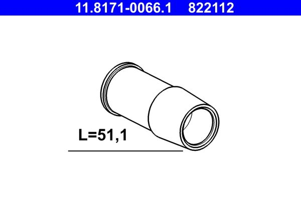 ATE: Original Führungshülse 11.8171-0066.1 ()
