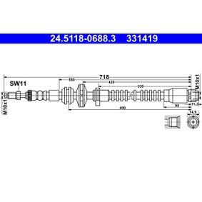 Bremsschlauch für Bremsanlage Vorderachse BOSCH 1 987 481 546