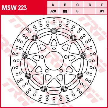 Bremseskive MSW223 med en rabat — køb nu!