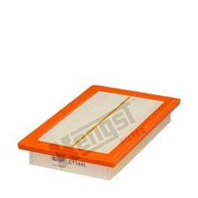 7039310000 HENGST FILTER Filtereinsatz Länge: 276,0mm, Breite: 177,0mm, Höhe: 44,0mm Luftfilter E1144L günstig kaufen