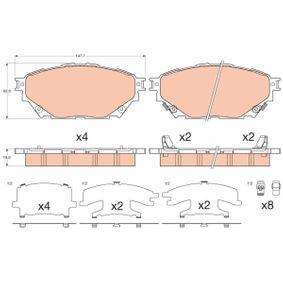 GDB3611 TRW Bremsbelagsatz, Scheibenbremse für MITSUBISHI billiger kaufen