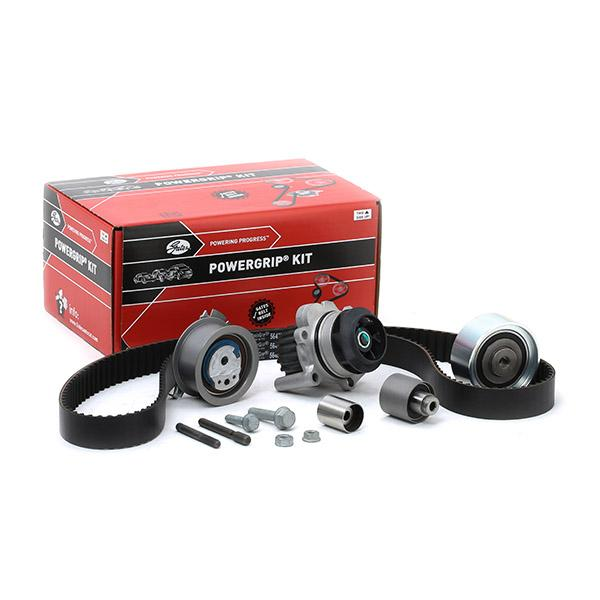 Car spare parts VW TIGUAN 2016: Water pump and timing belt kit GATES KP15648XS-1 at a discount — buy now!