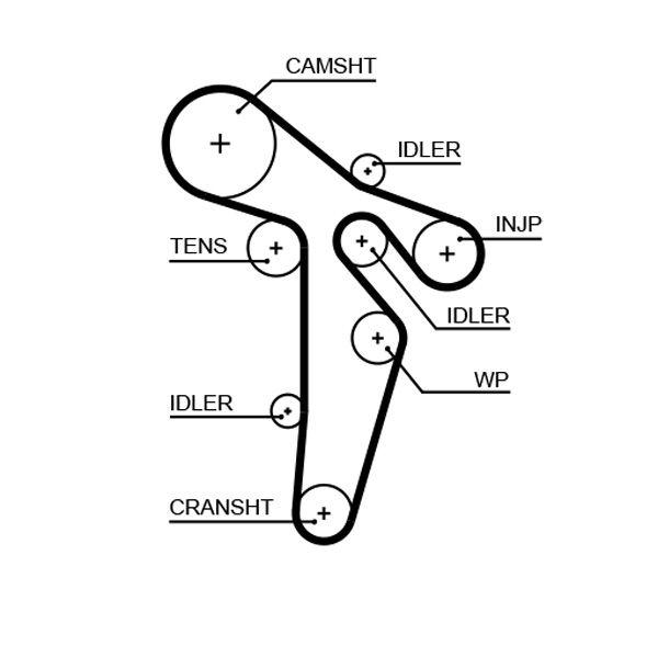 KP15648XS-1 Timing belt kit with water pump GATES original quality