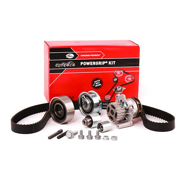 VW CADDY 2015 replacement parts: Water pump and timing belt kit GATES KP25649XS-1 at a discount — buy now!