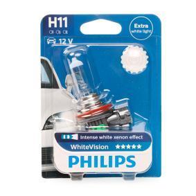 Køb H11 PHILIPS 55w, H11, 12V Pære, fjernlys 12362WHVB1 billige