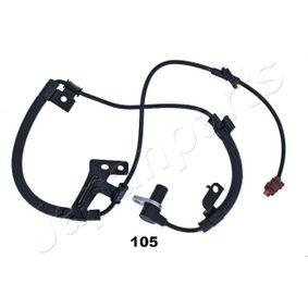 ABS105 Sensor, Raddrehzahl JAPANPARTS ABS-105 - Große Auswahl - stark reduziert