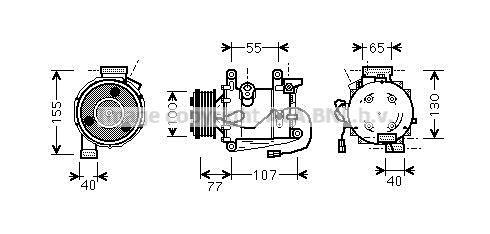 Original HONDA Kompressor Klimaanlage HDAK232