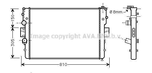 FT927R001 PRASCO Kühlrippen mechanisch gefügt, Aluminium, Kunststoff Kühler, Motorkühlung IVA2087 günstig kaufen