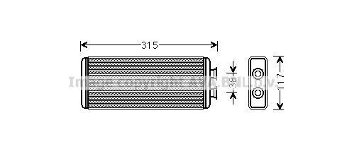 PRASCO: Original Heizungskühler JR6055 (Kühlrippen gelötet)