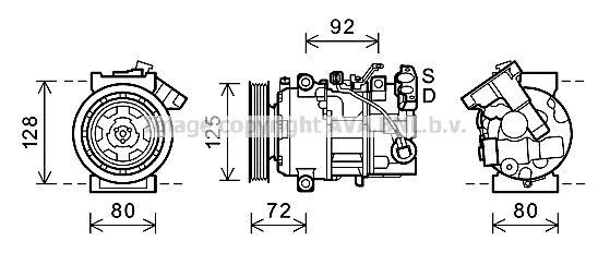 Original RENAULT Kompressor Klimaanlage RTAK489