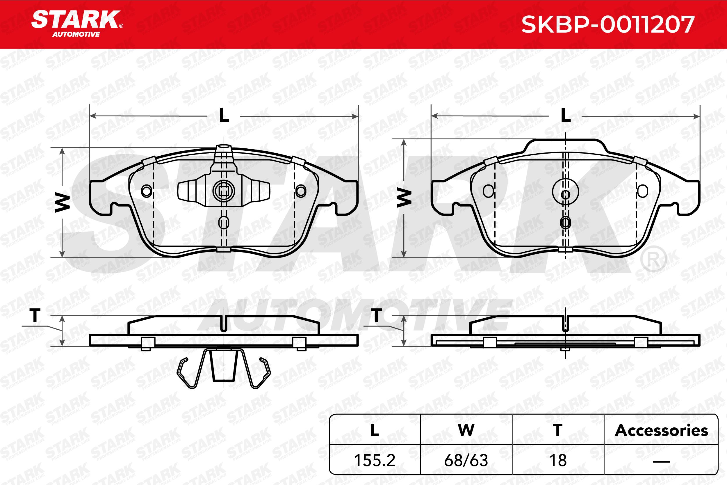 STARK | Bremsbelagsatz, Scheibenbremse SKBP-0011207