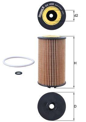 KNECHT | Ölfilter OX 1058D