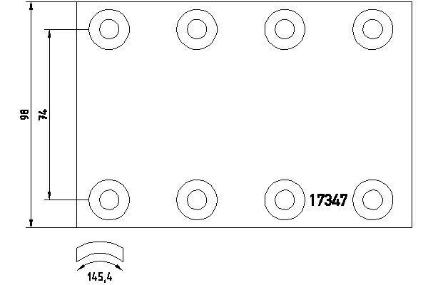 LKW Bremsbelagsatz, Trommelbremse TEXTAR 1734703 kaufen
