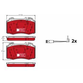 Bremsbelagsatz Scheibenbremse TRW GDB2088